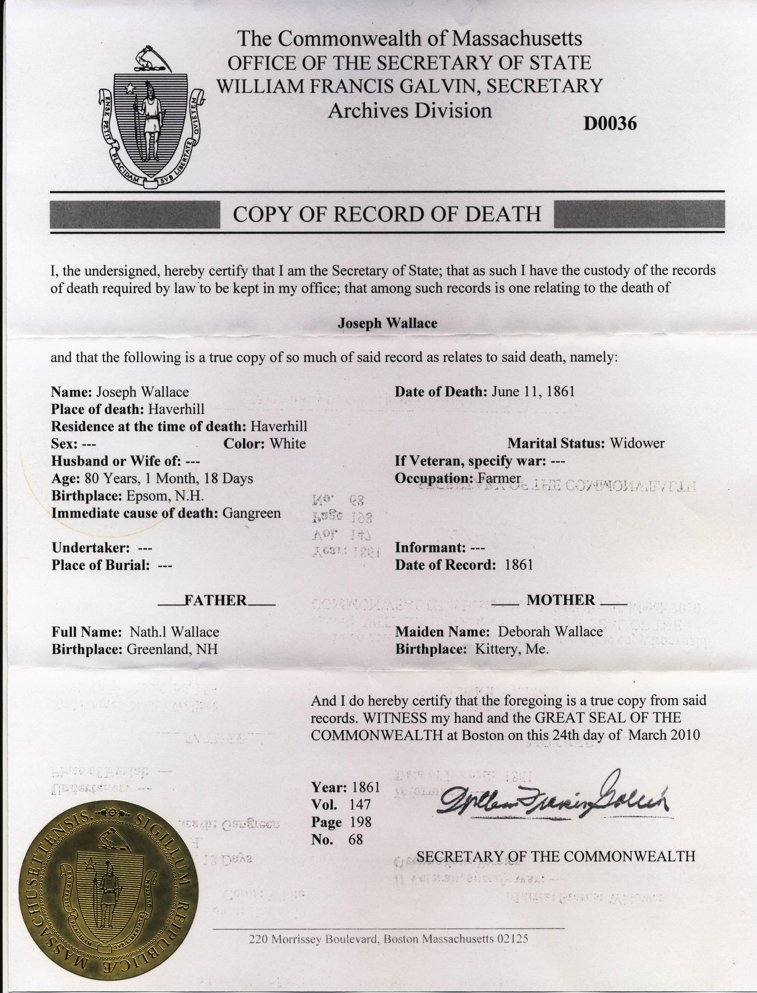 The Slovak Yankee: Massachusetts Death Records: State v. Town Level ...